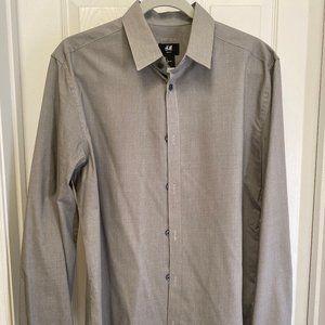 ***MENS H&M GRAY DRESS SHIRT***